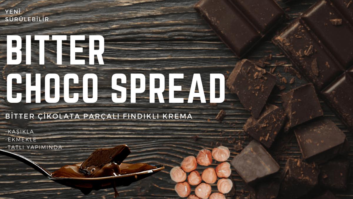 bitter çikolata parçalı kakaolu fındıklı krema afiş